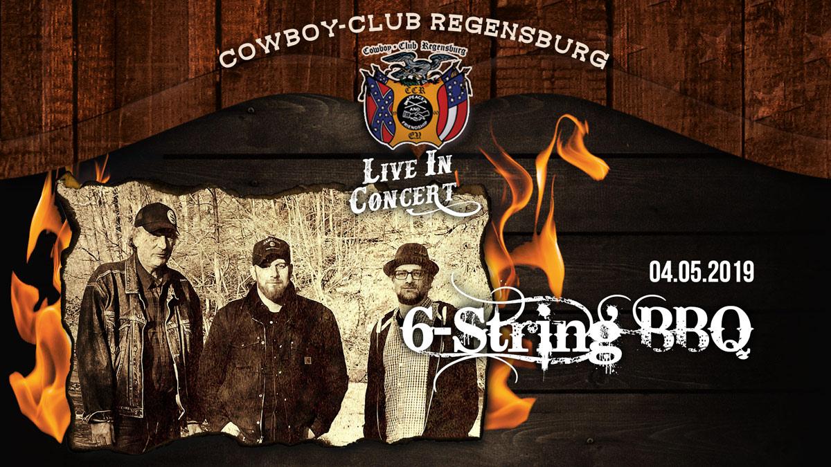 6 String BBQ - Live bei uns im Saloon!