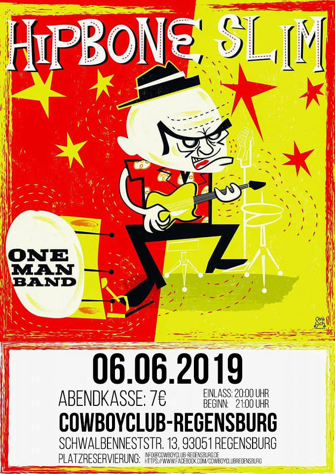Hipbone Slim One Man Band - Live im Cowboyclub Regensburg