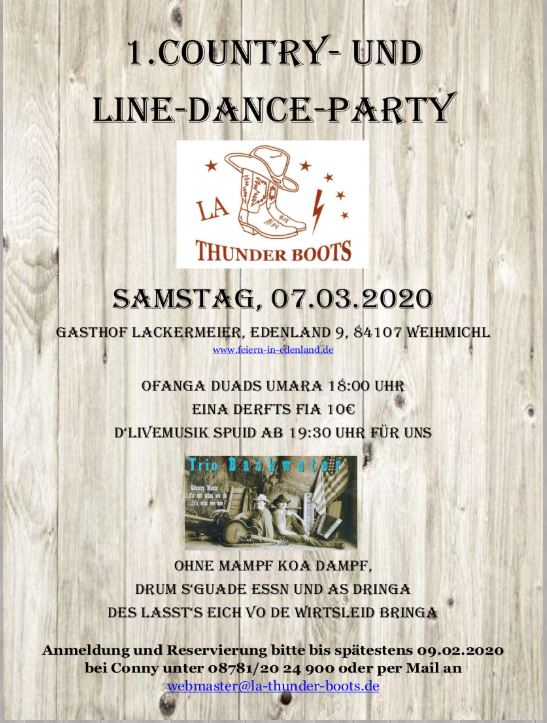 Line Dance Party - LA Thunder Boots