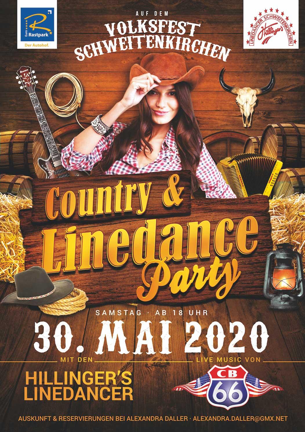 ABGESAGT! Country & Linedance Party auf dem Schweitenkirchener Volksfest