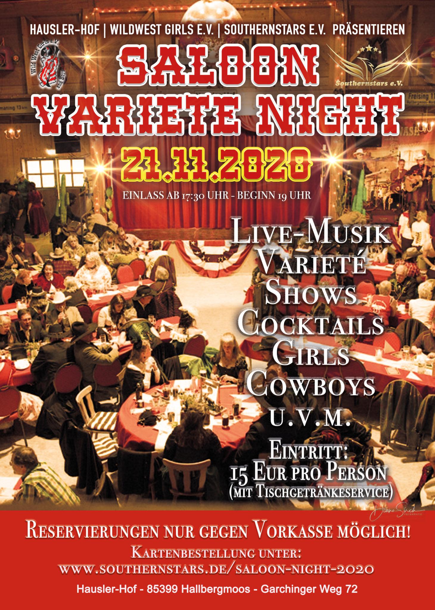 Saloon Varieté Night 2020 - Ersatztermin